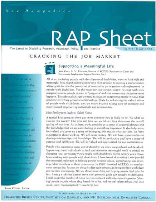 NH RAP Sheet Winter 2006: Cracking the Job Market