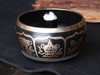 Pair of Tibetan Singling Bowls - Fire Palm Torches