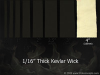 "4"" (100mm) Wide - 1/16"" (1.5mm) Thick Kevlar Wick"