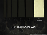 "4 Inch (100mm) Wide  - 1/8"" (3mm) Thick Kevlar Wick"