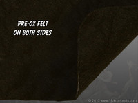 "Pre-Ox Felt Sheet - 1/8"" (3mm) Thick - Fiberglass Reinforced"