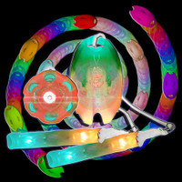 UltraPoi Vortex Leash Poi With UltraLight/Helix Handles Set
