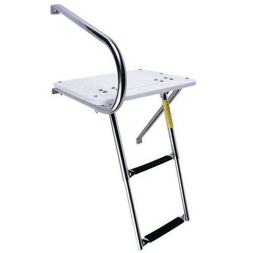 Garelick Outboard Transom Platform w/Telescoping Ladder