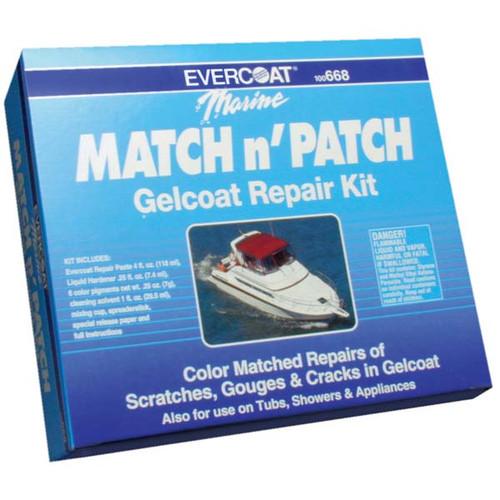 Gelcoat Match & Patch Repair Kit