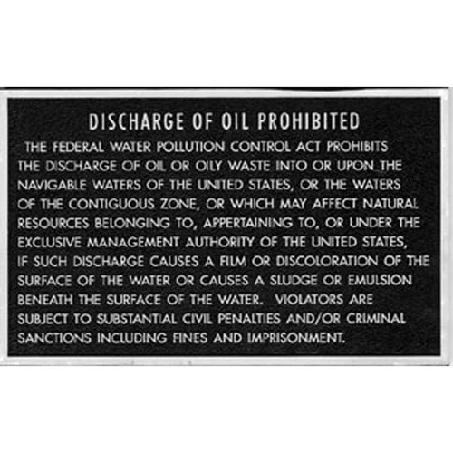 Oil Discharge Plaque
