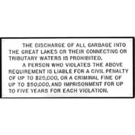 Waste Discharge Plaque for Great Lakes Region