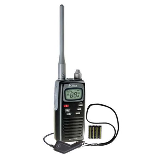 Cobra Handheld VHF Marine Radio 2 Watt, Black