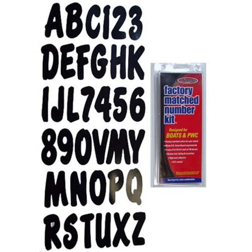 """3"""" Boat Letter and Number Kit - Black"""