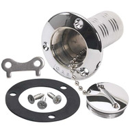 "Moeller Marine Chrome Fuel Deck Fill for 1-1/2"" Hose"
