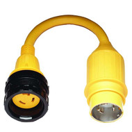 Marinco Pigtail Adapter, 30 Amp Locking to 50 Amp Locking