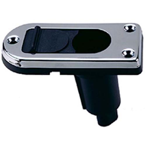 Perko 2 Pin Plug In Stern Light Base with 5 Degree Rake Stainless