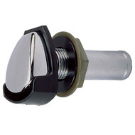 Perko Chrome Gas Tank Vent with Black Plastic Splash Shield
