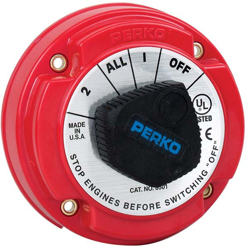 Perko 250 Amp Battery Selector Switch for 12, 24 or 36 Volt Systems