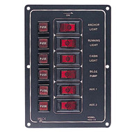 Sea Dog Aluminum Vertical 6 Gang Switch Panel