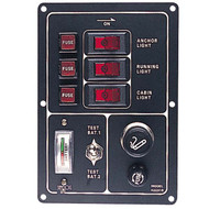 Sea Dog Battery Test Switch with Gauge And Lighter