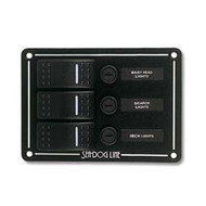 Sea Dog Three Rocker Switch Panel