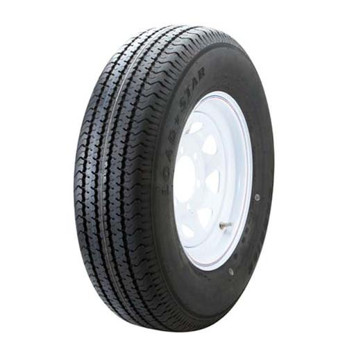 """Loadstar 225/75D15 6 Lug 15"""" Radial Trailer Tire - White Spoke"""