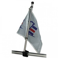 "Sea-Dog 17"" Flag Pole with Rail Mount"