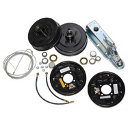Complete Single Axle Trailer Brake Kit Free Backing