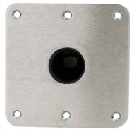 "Swivl-Eze Snap-Lock Deck Base, 7"" x 7"" Stainless Steel"