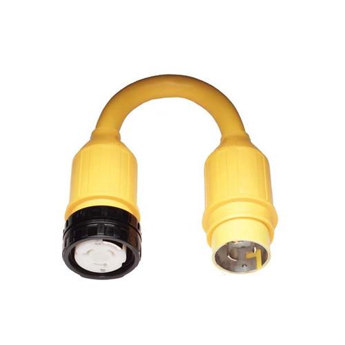 Marinco Pigtail Adapter, 50 Amp Locking to 50 Amp Locking