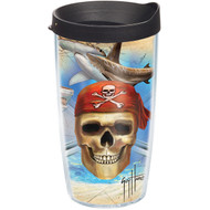 Tervis Guy Harvey Pirate Wrap Tumbler with Black Lid 16oz