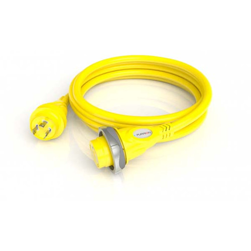 Furrion 30 Amp Powersmart 125V Cordset with LED- 25Ft- Yellow F30P25-SY