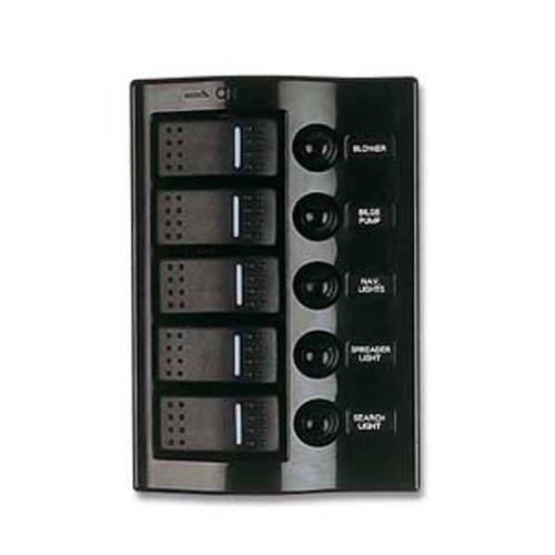 Sea Dog Five Wave Rocker Switch/Breaker Panel