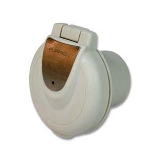 Furrion 30 Amp Inlet- Round Non-Metallic, White F30INR-PS