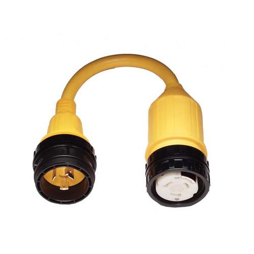 Marinco Pigtail Adapter, 50 Amp Locking to 30 Amp Locking