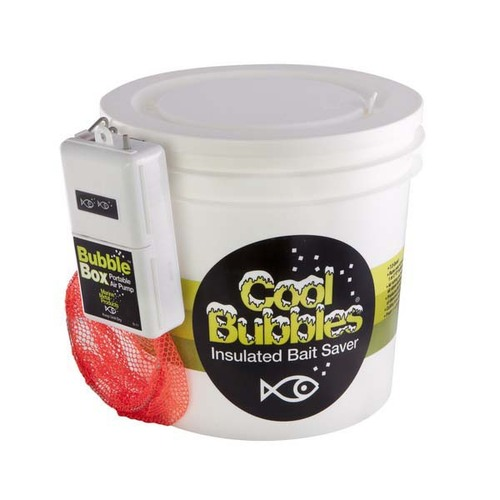 Cool Bubbles 8QT Plastic Bucket w/B-11 Pump and Net