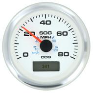 Sierra 781-625-080P GPS Speedometer W/heading display 80MPH Domed SS