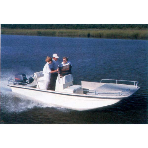 """Square Bow Bay Boat 16'6"""" to 17'5"""" Max 90"""" Beam"""