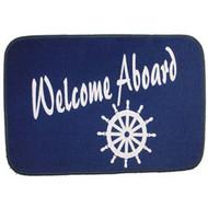 Welcome Aboard Door Mat Ships Wheel