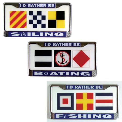 Boating License Plate Frames