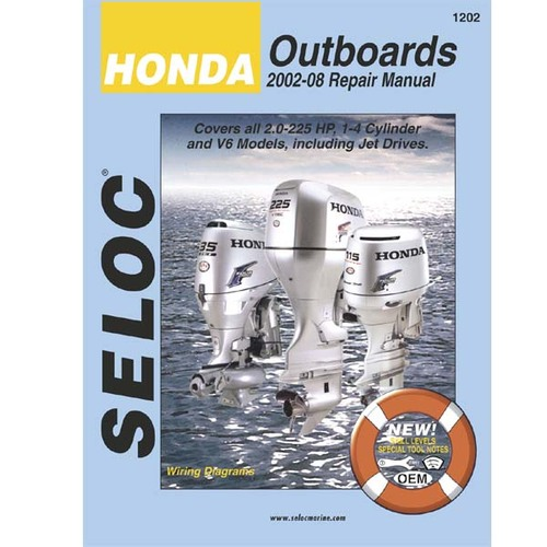 Seloc Service Manual Honda Outboards 2002-2008