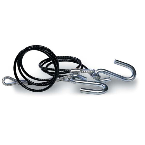 Trailer Safety Cables, Black Vinyl Coated