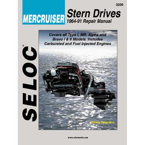 Seloc Service Manuals Mercruiser Sterndrives 1964 - 1991