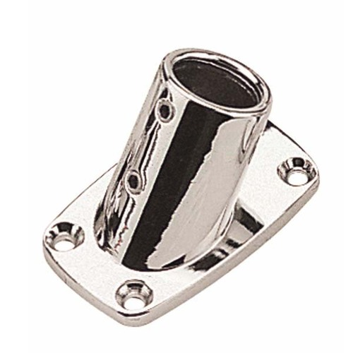 "Sea-Dog Rectangular Base 7/8"" Rail Fitting, Chrome"
