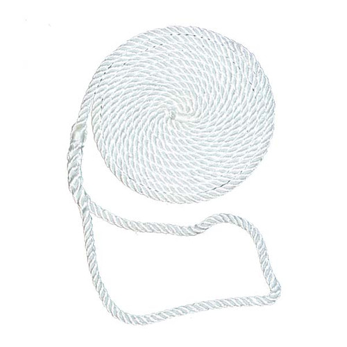 Aamstrand 3 Strand Twisted Nylon Dock Lines - White