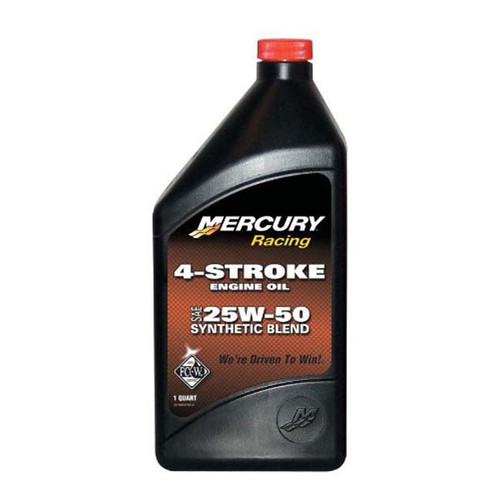 Mercury 25w25 synthetic blend outboard oil for How often to change synthetic blend motor oil