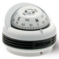 Ritchie TR-33W Trek Compass (Surface Mount) - White