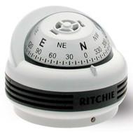 Ritchie TR-33W Trek Compass (Surface Mount) - White