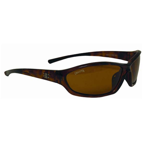 Calcutta Backspray Sunglasses -Tortoise Frame W/ Amber Lens