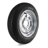 "Loadstar 480-12 5 Lug 12"" Bias Trailer Tire - Galvanized Load B"