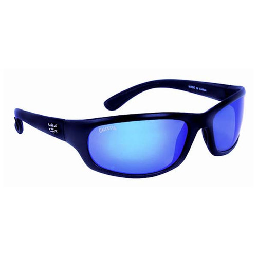 Calcutta Steelhead Sunglasses - Black Frame W/ Blue Mirror Lens