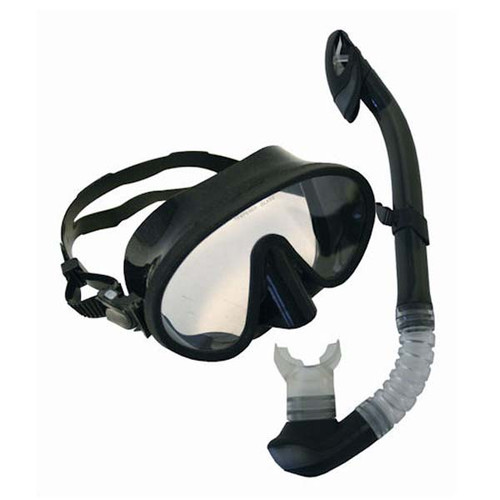 Black Med/Lg Mask & Snorkel Set By Calcutta
