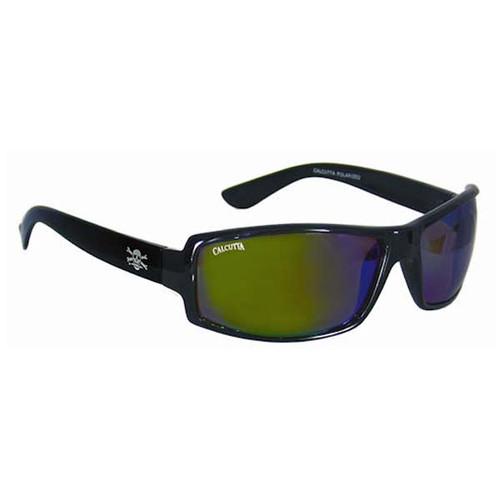 Calcutta New Wave Sunglasses - Black Frame W/ Blue Lens