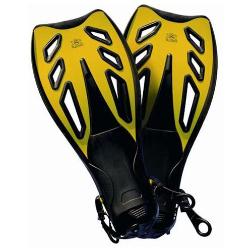 Flex Blade Yellow & Black Fins By Calcutta