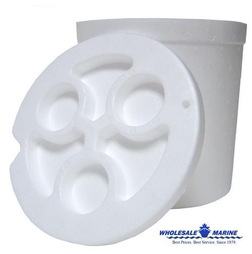 Plastilite 5 Gallon Bucket Styrofoam Liner (6 Pack)